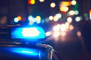 Police car on the street