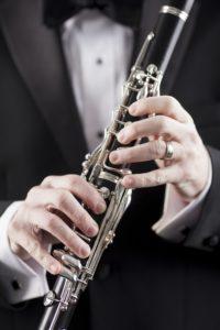 tuxedo and clarinet