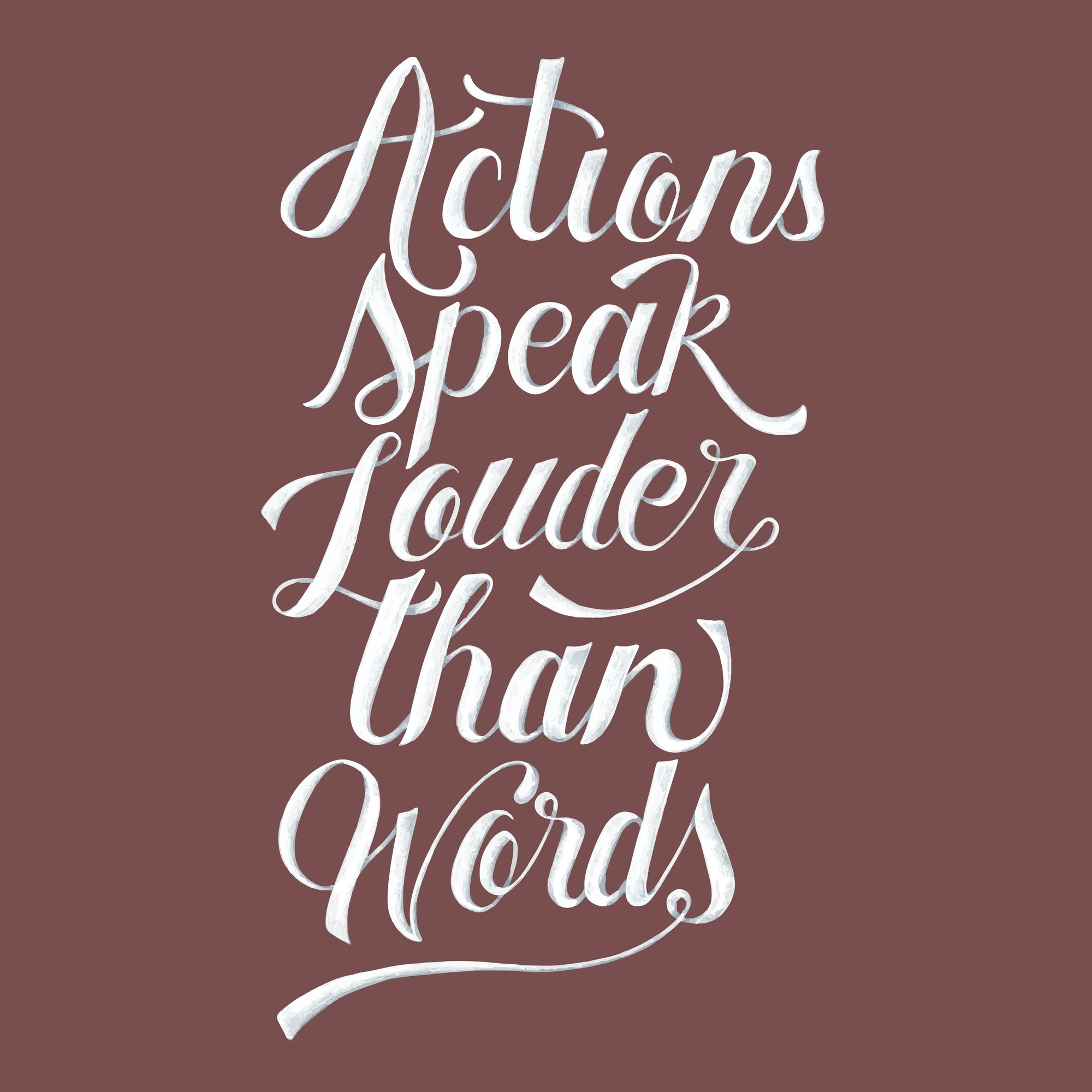 Actions speak louder than words illustration