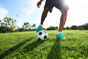 Playing Soccer on Spacious Pitch